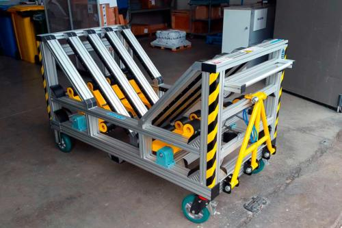 Coil holder trolley