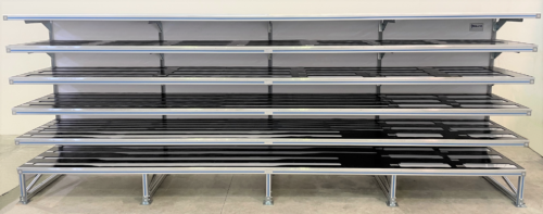 Shelf for customized parts